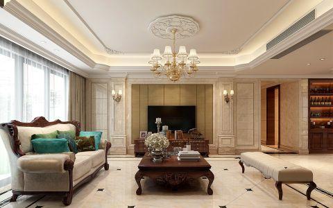 客厅灰色窗帘欧式风格装潢效果图
