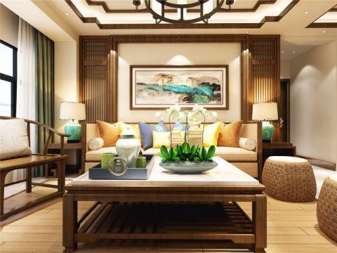 郑州龙之梦160平中式风格四居室装修案例效果图