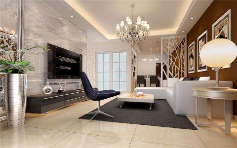 客厅白色照片墙现代简约风格装饰图片