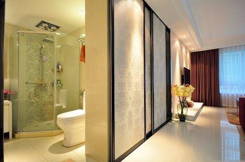 卫生间白色细节现代简约风格装饰图片
