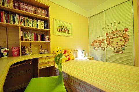儿童房米色榻榻米现代简约风格装潢图片