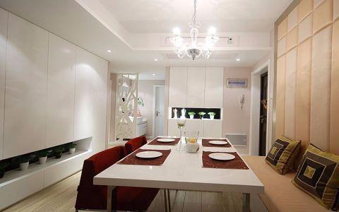 餐厅白色吊顶现代风格装修设计图片