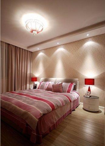 卧室白色窗帘现代风格效果图