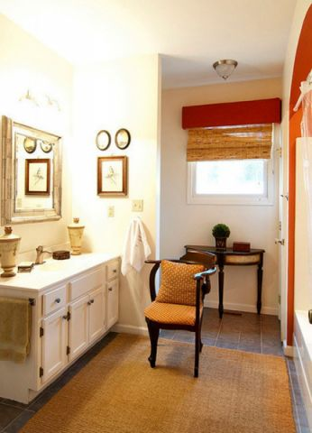卫生间白色细节美式风格装饰设计图片