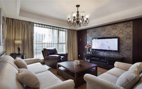 客厅米色吊顶新古典风格装饰图片