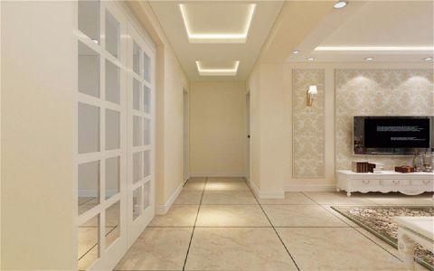 客厅米色走廊欧式风格装饰设计图片