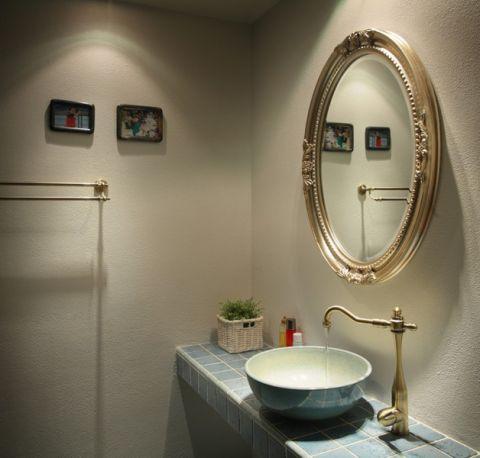 卫生间彩色细节地中海风格装饰图片