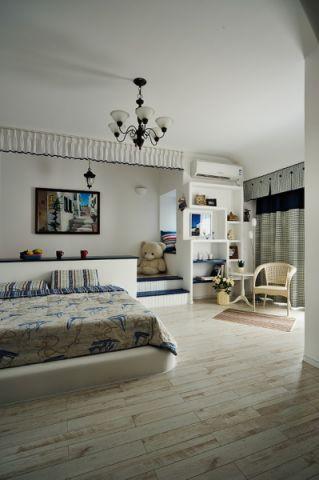 卧室白色细节地中海风格装潢设计图片