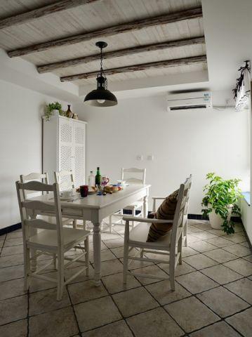 餐厅白色吊顶地中海风格装修效果图