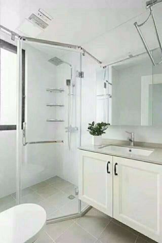 卫生间白色细节现代简约风格效果图
