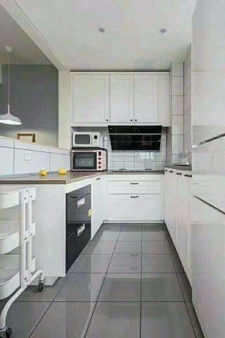 厨房白色细节现代简约风格装修效果图