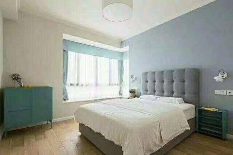 卧室白色飘窗现代简约风格装修图片