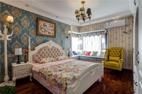 卧室米色飘窗美式风格装饰效果图