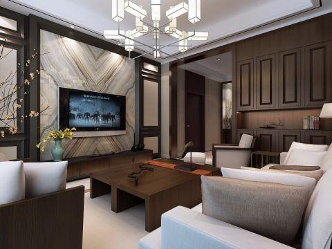 绿城玫瑰园189平米新中式四居室装修效果图