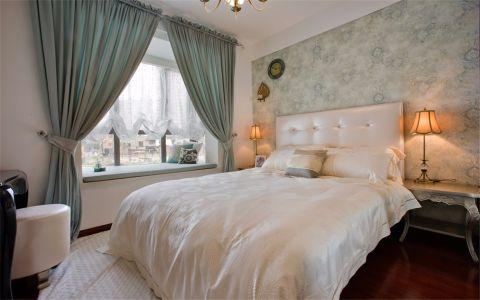 卧室蓝色飘窗简欧风格装饰效果图