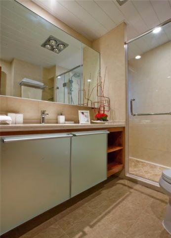 卫生间白色吊顶简欧风格装潢效果图