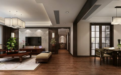 客厅走廊新中式风格装修效果图