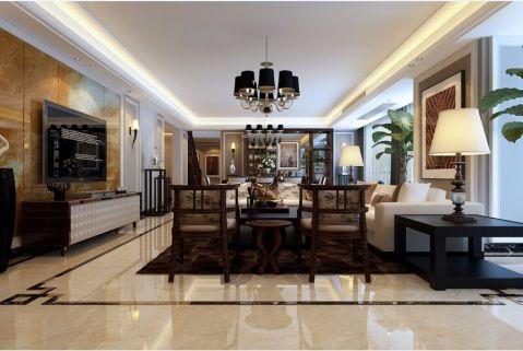 内森庄园190平米现代风格四居室装修效果图