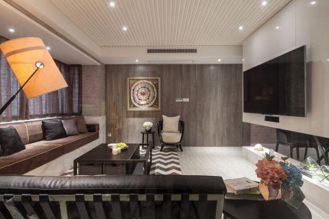 紫廷名苑133平混搭风格三居室装修效果图