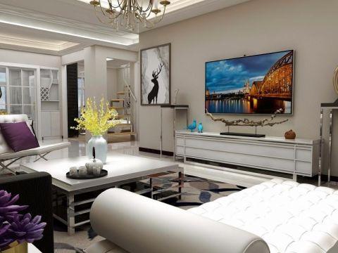 彩虹城100平米现代简约风格二居室装修效果图