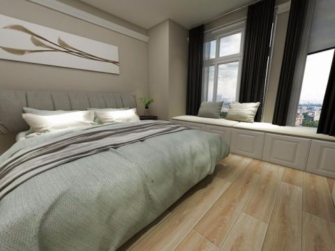 卧室窗帘现代简约风格装饰效果图