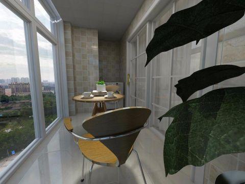 阳台落地窗现代简约风格装潢效果图