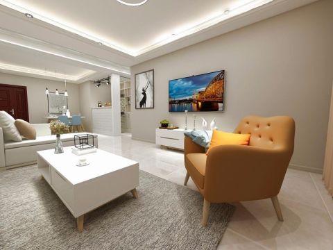 时代华府150平米现代简约风格四居室装修效果图