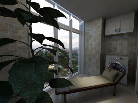 阳台推拉门简约风格装修设计图片