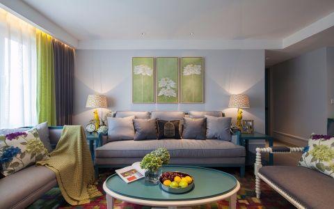 聚湖半岛128平混搭风格三居室装修效果图