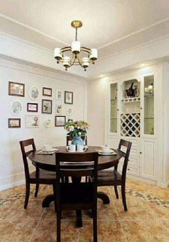餐厅白色阁楼美式风格装潢图片
