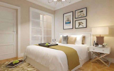 卧室黄色背景墙现代简约风格装潢图片