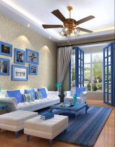 客厅落地窗地中海风格装修效果图