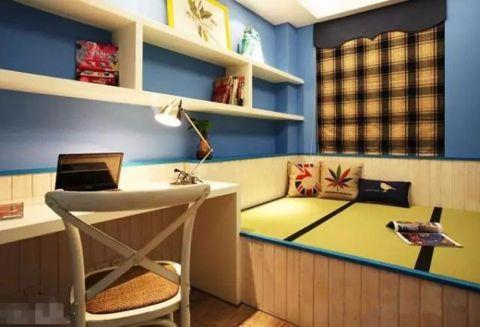 书房榻榻米地中海风格装饰效果图