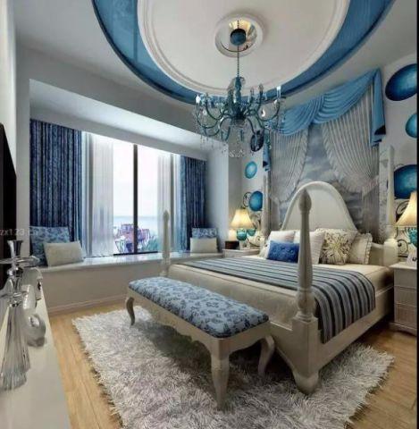 山水龙城地中海风格两居室装修效果图
