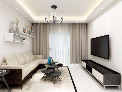 80平简约风格三居室装修效果图