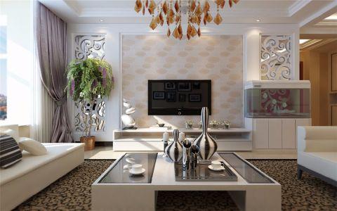 客厅飘窗现代简约风格装潢图片
