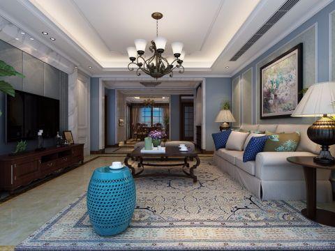 绿城玫瑰园160平米欧式风格四居室装修效果图