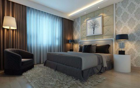 卧室白色背景墙欧式风格装修图片