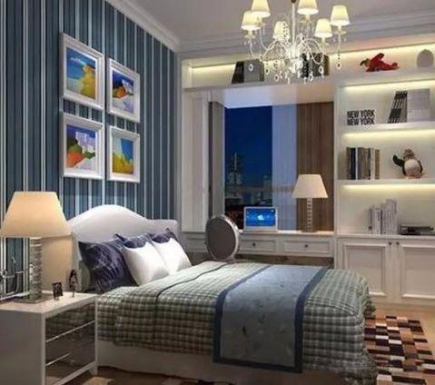 卧室蓝色梳妆台欧式风格装饰效果图