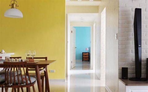 玄关白色走廊美式风格装饰图片