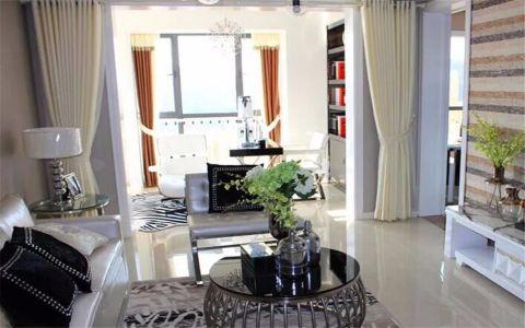 龙山观邸120平现代风格三居室装修效果图