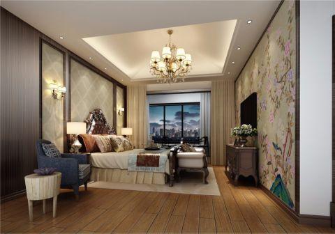 卧室床头柜新中式风格装修设计图片