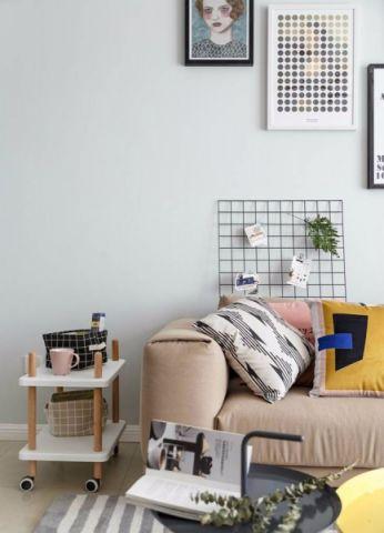 客厅茶几简约风格装潢效果图