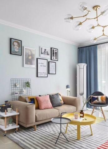 客厅灯具简约风格装修图片