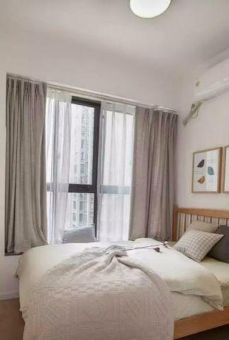 卧室窗帘日式风格装修效果图