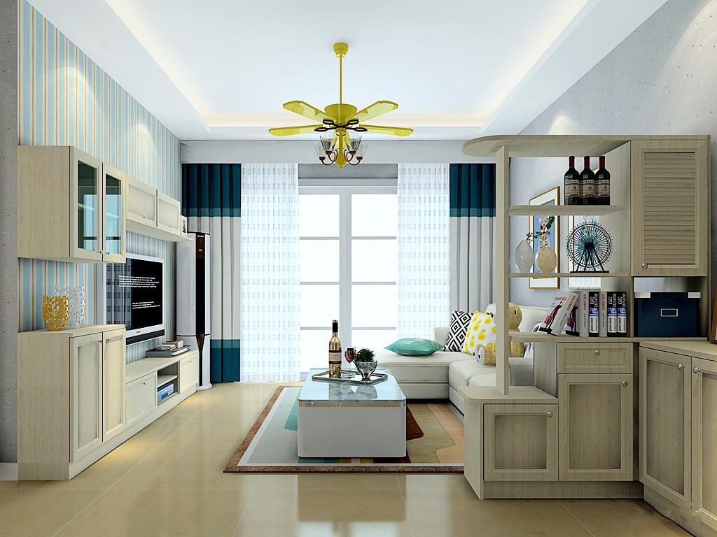 2室1卫1厅78平米简约风格