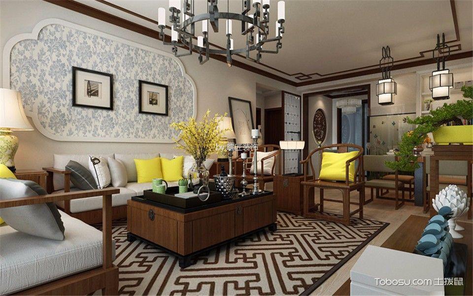 京城国际90平新中式三居室装修效果图