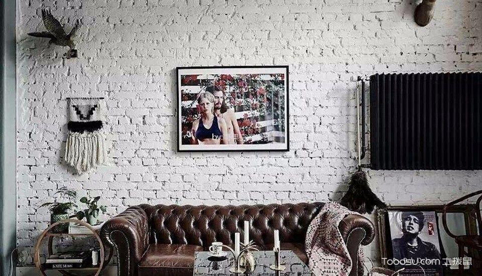 浦东新区80平欧式风格二居室装修效果图