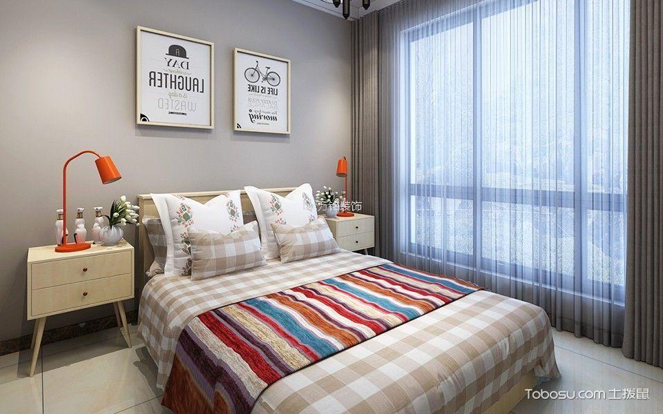 卧室黄色床头柜现代简约风格装饰效果图