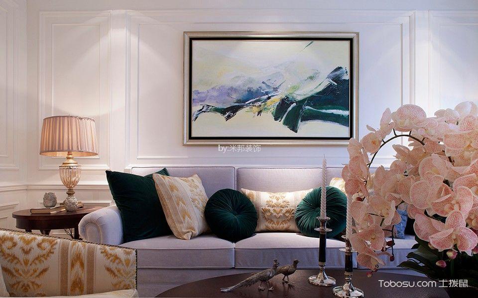 金新鼎邦130平美式风格三居室装修效果图